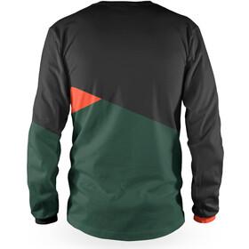 Loose Riders Slant Koszulka rowerowa z długim rękawem Mężczyźni, black/green/orange